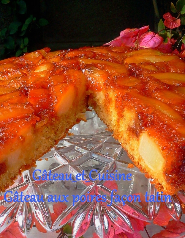 gâteau renversé aux poires façon tatin