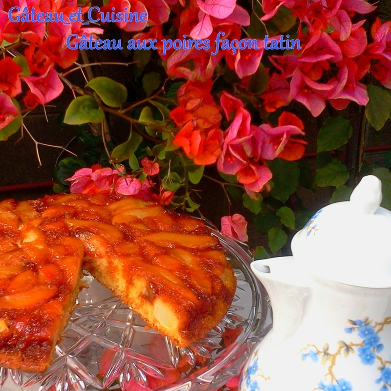 gâteau renversé aux poires façon tarte tatin