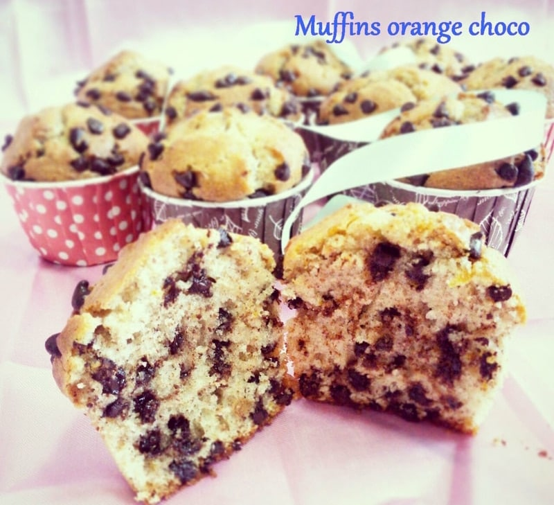 muffin amande ,orange et pépites de chocolat