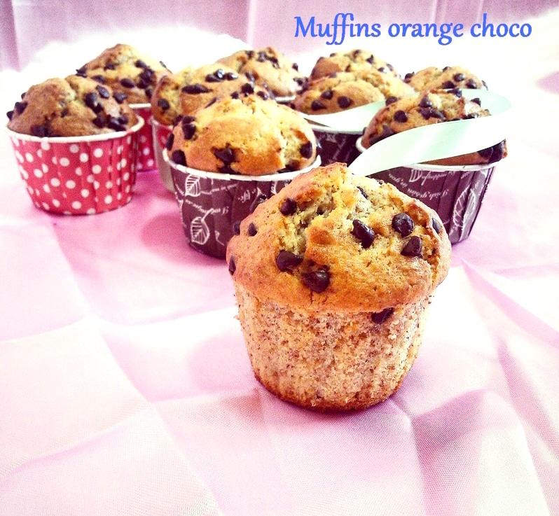 muffin amande et chocolat