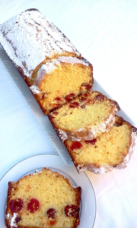 gâteau moelleux citron et cerises