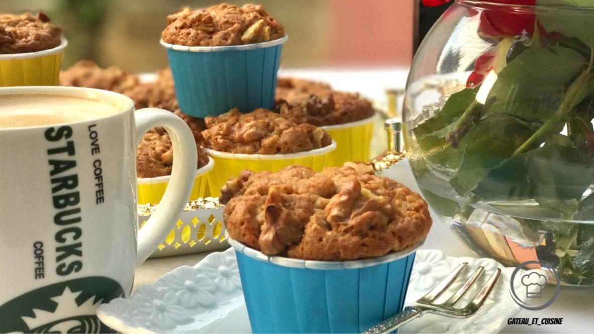 muffin aux bananes et noix