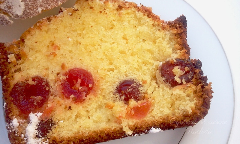 cake au citron et cerises confites