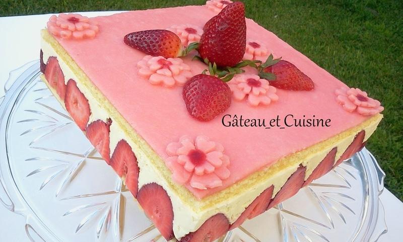 fraisier crème mousseline recette cap