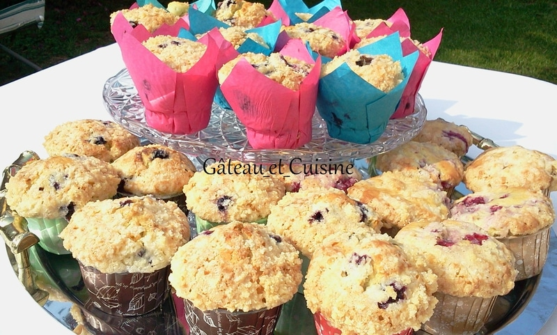 muffin myrtille et crumble