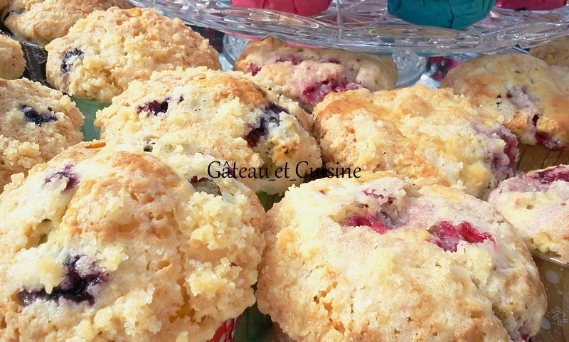 muffins myrtille et crumble