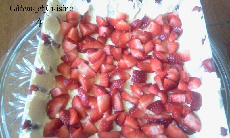 recette fraisier carré