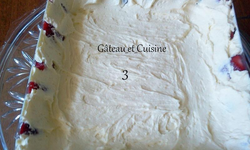 recette fraisier crème mousseline