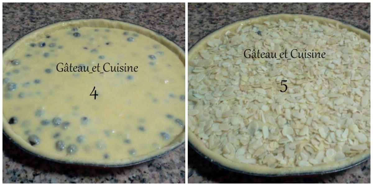 tarte amandine avec myrtille et pâte sablée