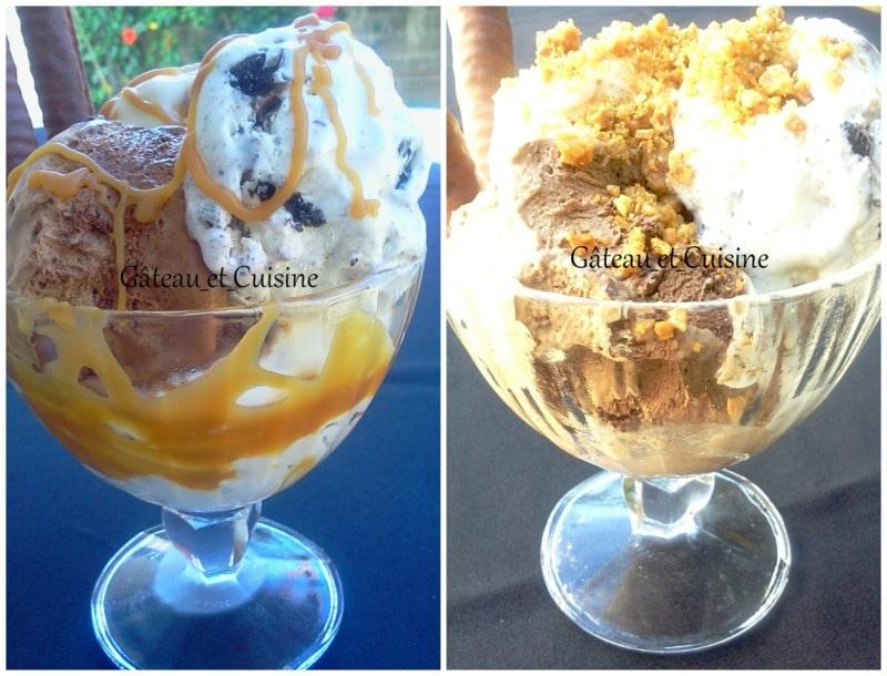 glace sans sorbetière chocolat et vanille