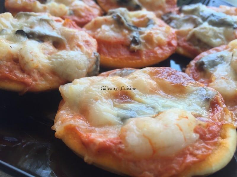 recette pizza maison crevettes et crème