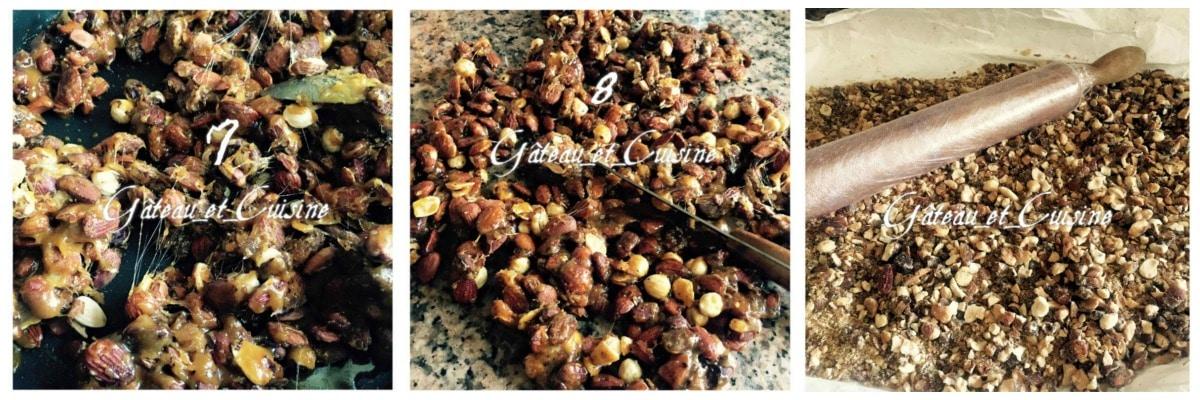 fruits secs caramélisés pour praliné maison
