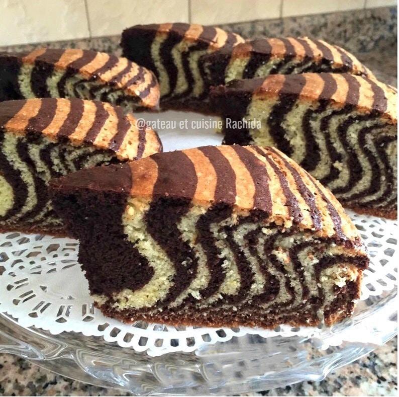la cake zébré très moelleux