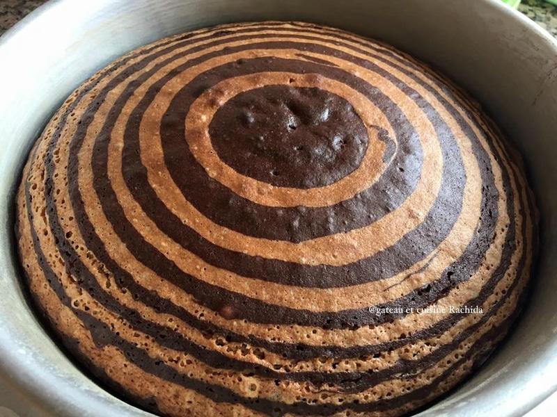 recette cake zébré facile,zebra cake