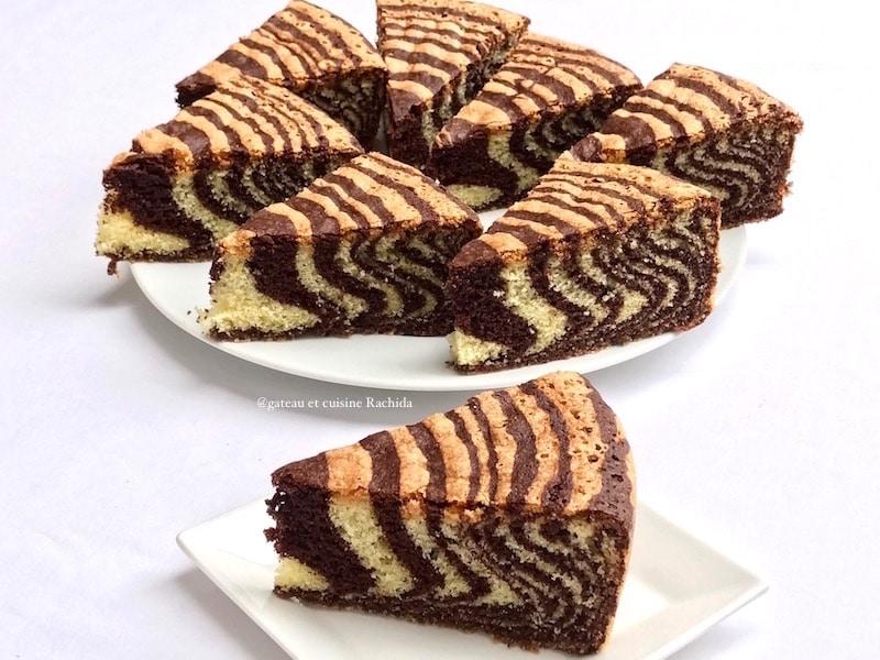 cake zébré -cake marbré tigré