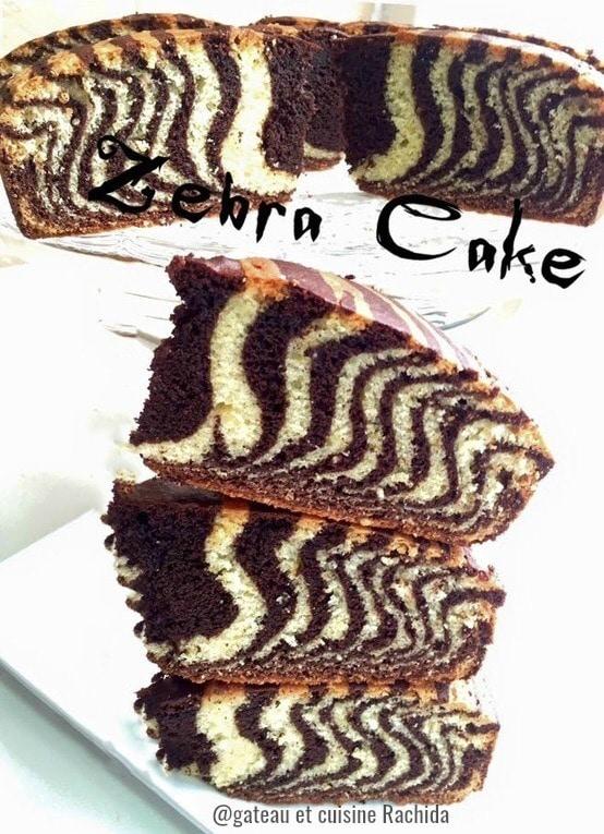 recette cake zébré marbré
