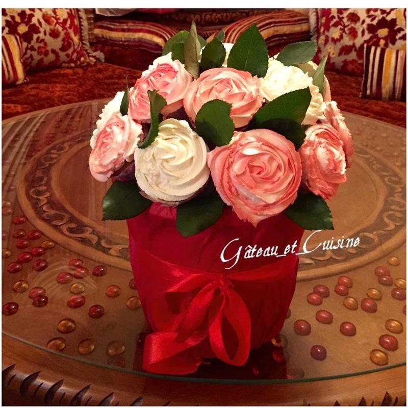 bouquet de cupcakes pour la st valentin