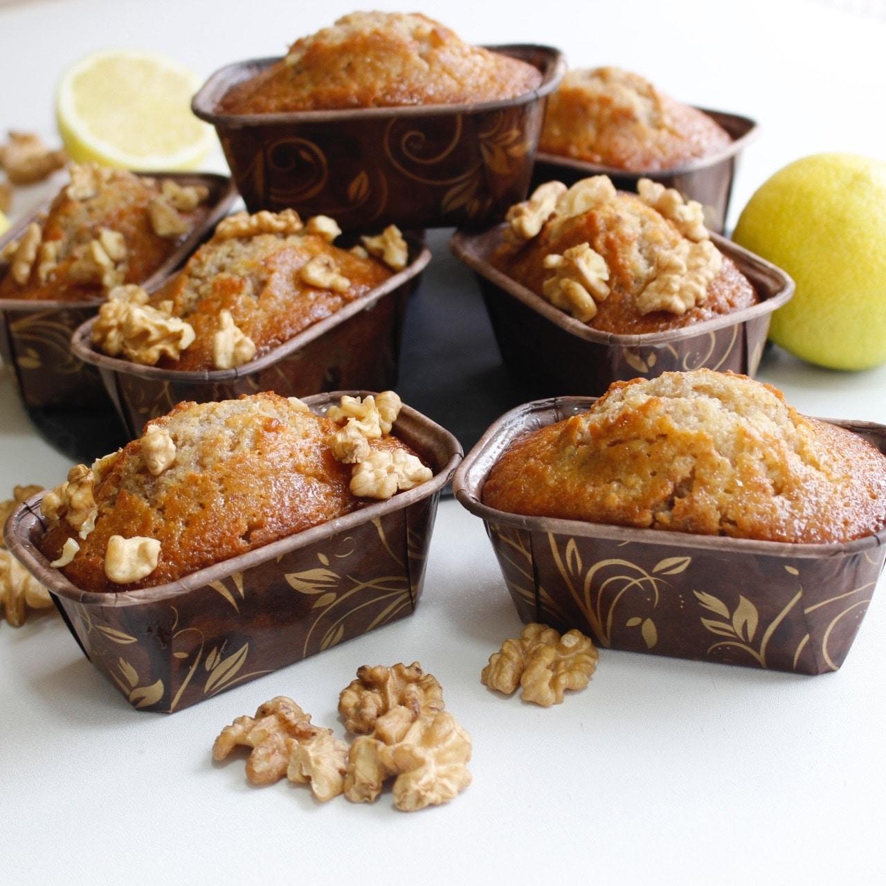 cake au citron et noix avec sirop- recette pour le goûter