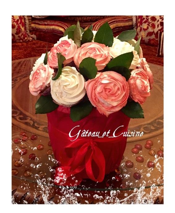 cupcakes fleur sur bouquet