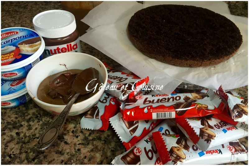 layer cake kinder bueno-ingrédients