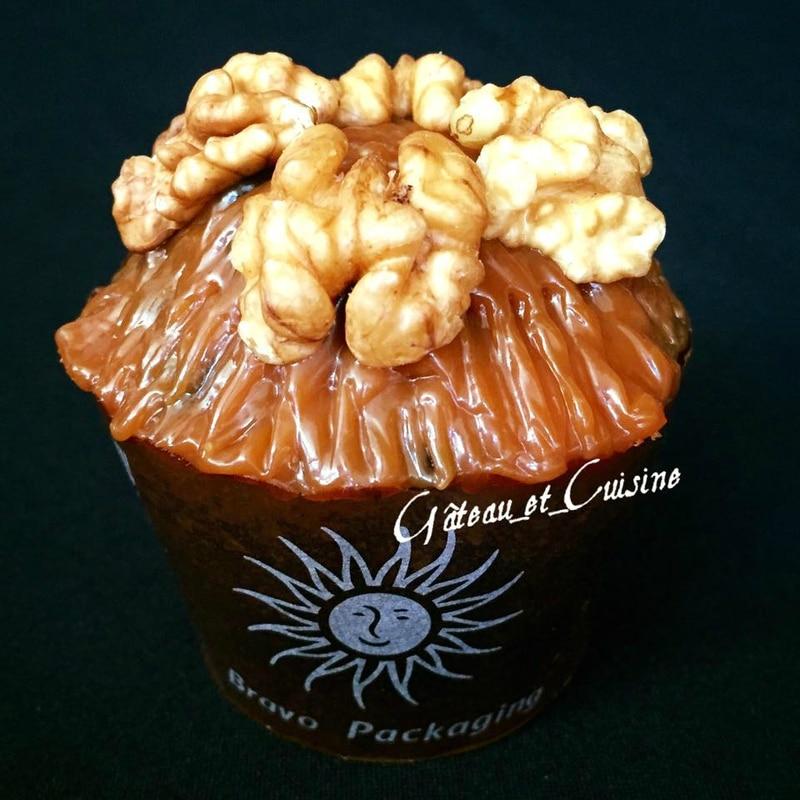 muffin au chocolat et noix