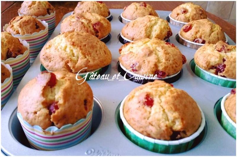 muffins citron et aux cerises