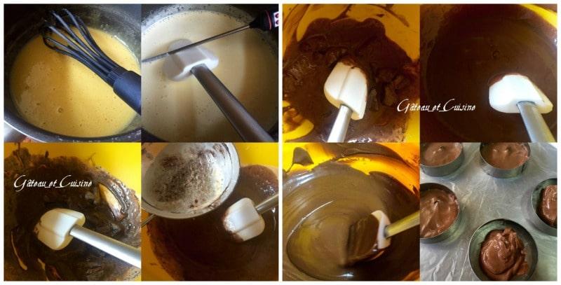 crémeux au chocolat -entremet noisettes praliné