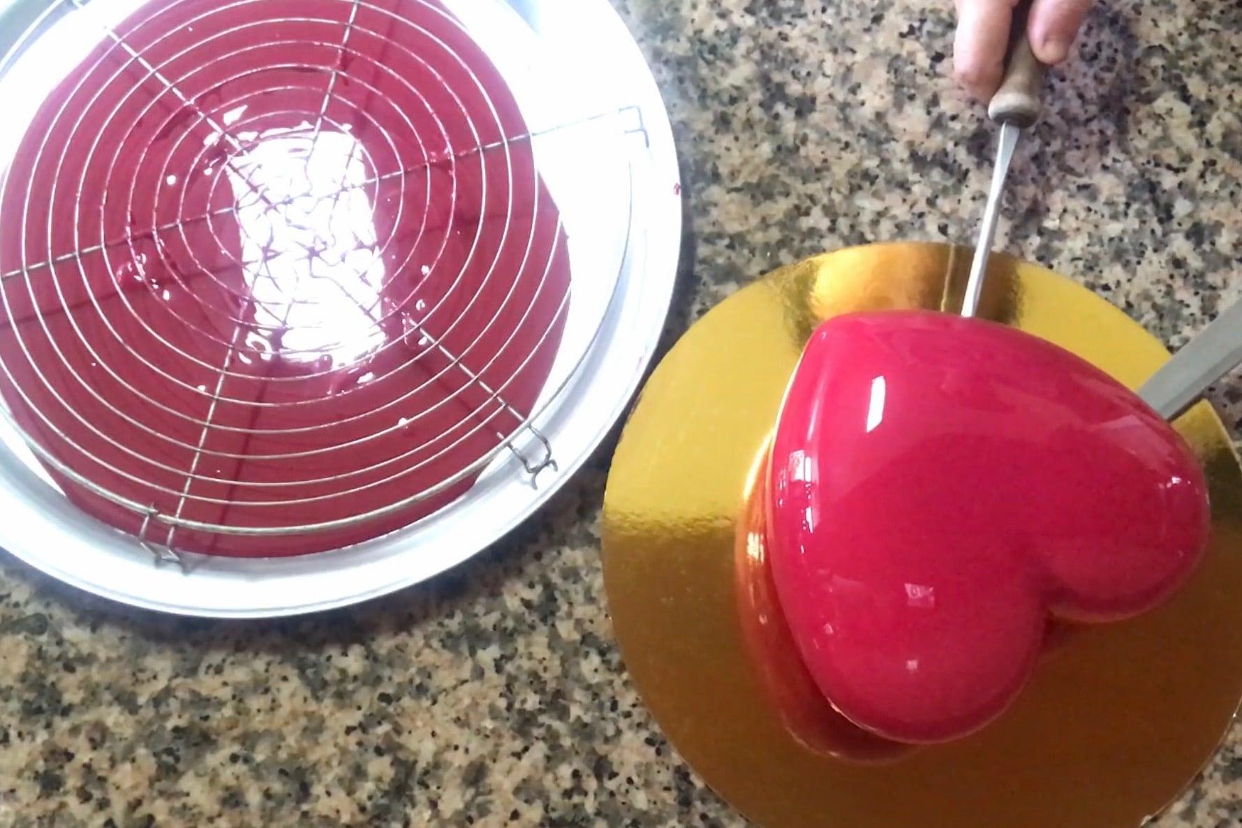 glaçage coloré rouge