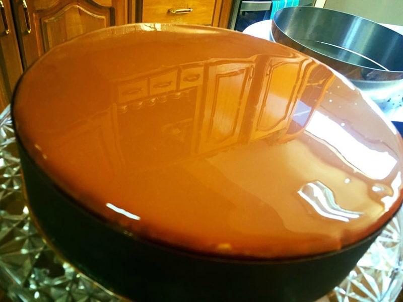 glaçage miroir chocolat brillant