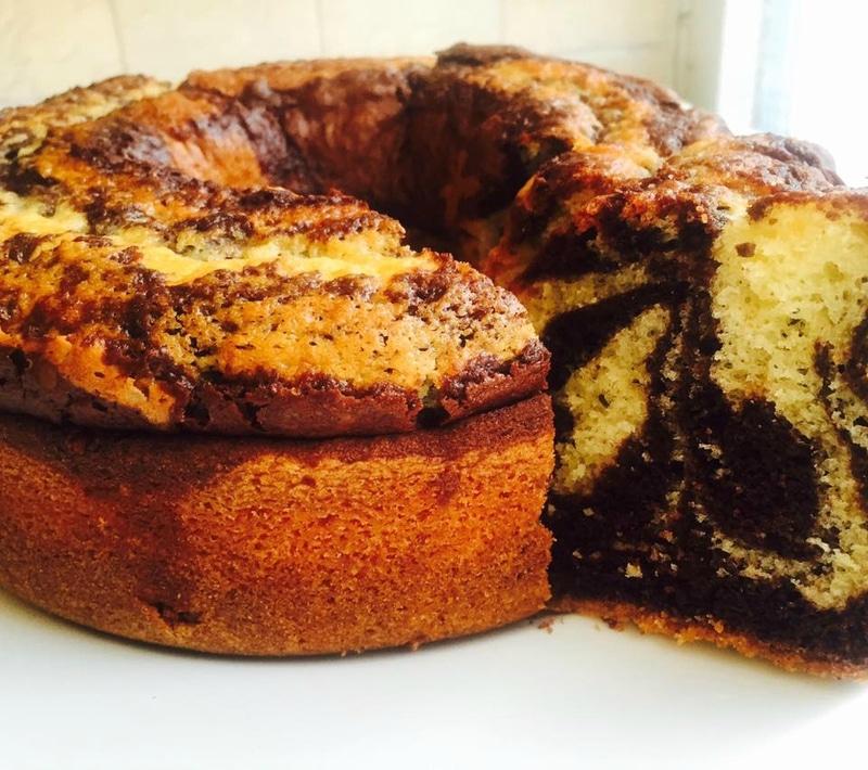 gâteau marbré -recette inratable-le meilleur cake