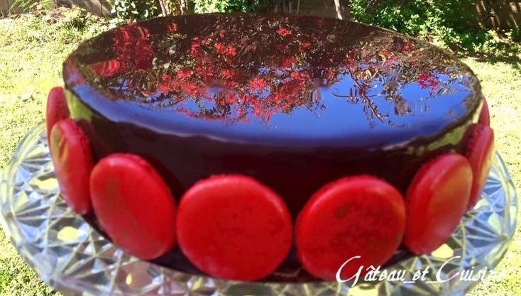 glaçage miroir au cacao