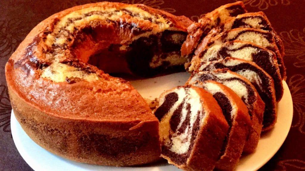 gateau marbré au chocolat -recette facile de cake marbré