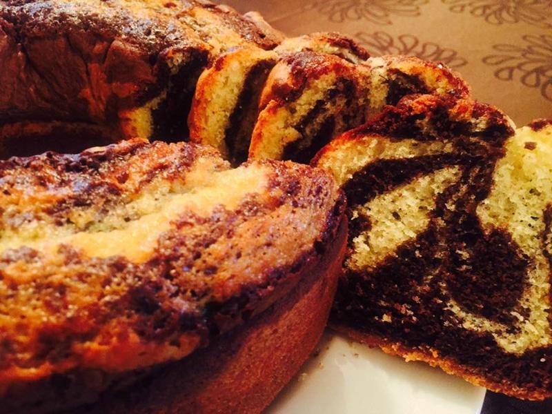 cake marbré ,le plus délicieux des gâteaux marbré