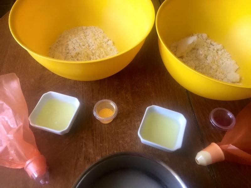comment faire macarons deux couleurs