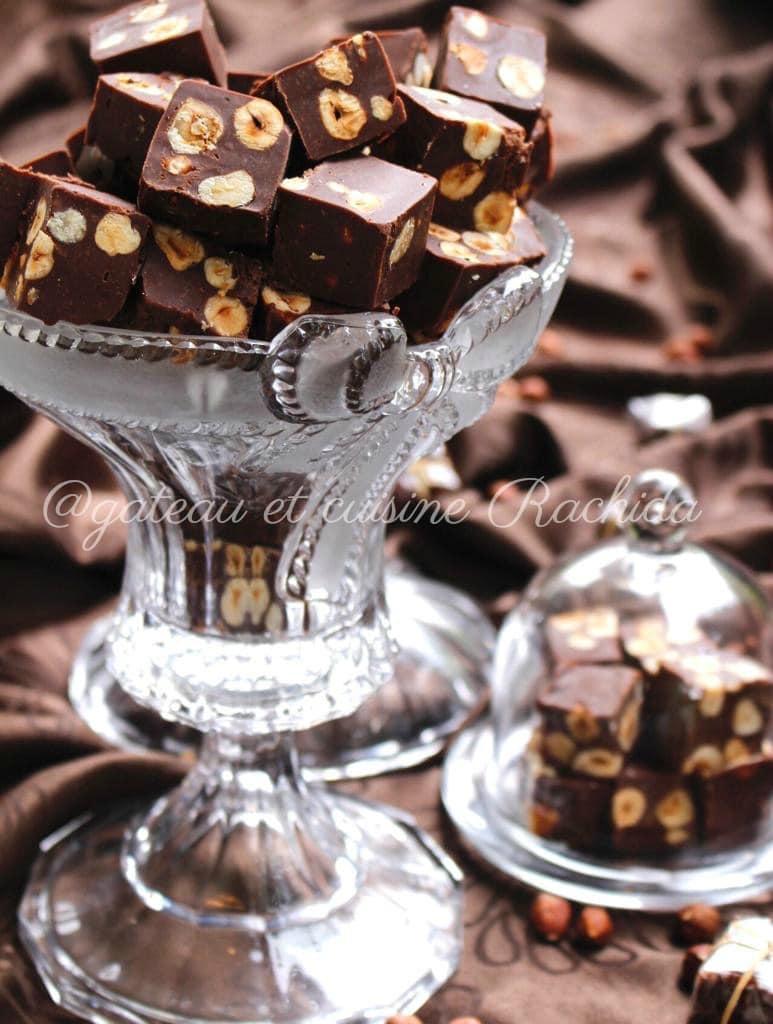 Fudges chocolat noir et lait- idée cadeau gourmand à offrir.