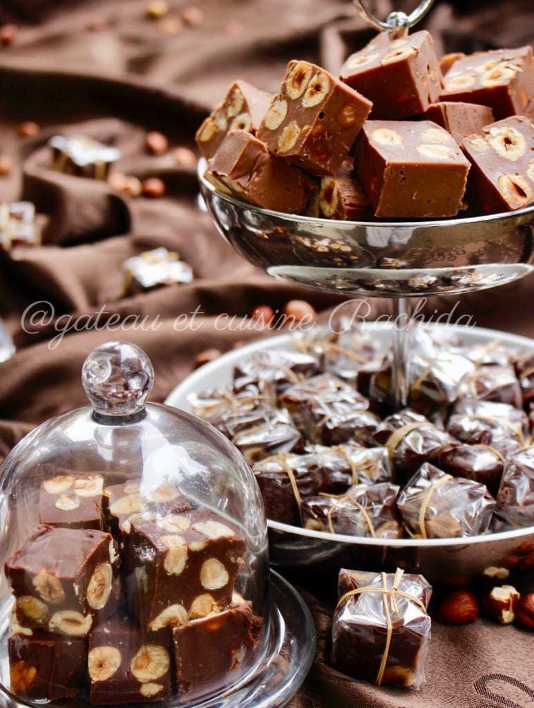 recette des fudges au chocolat au lait et aux noisettes
