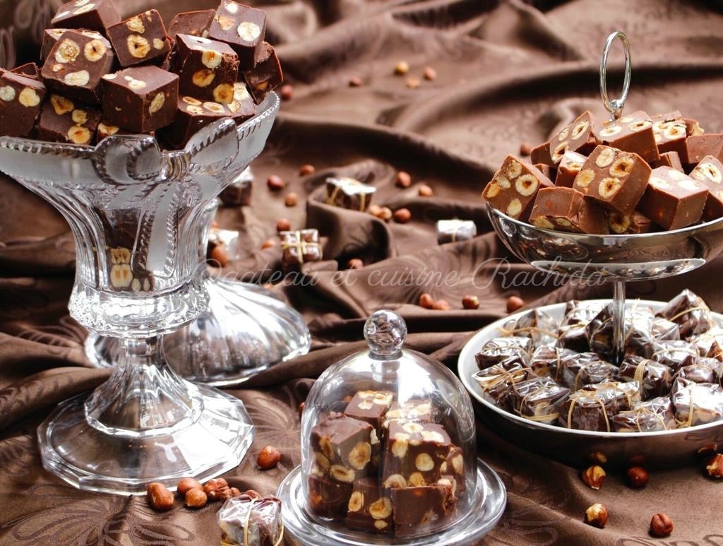 fudge chocolat et noisettes