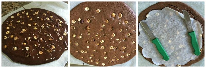 brownie noisette pour l'entremet 3 chocolat