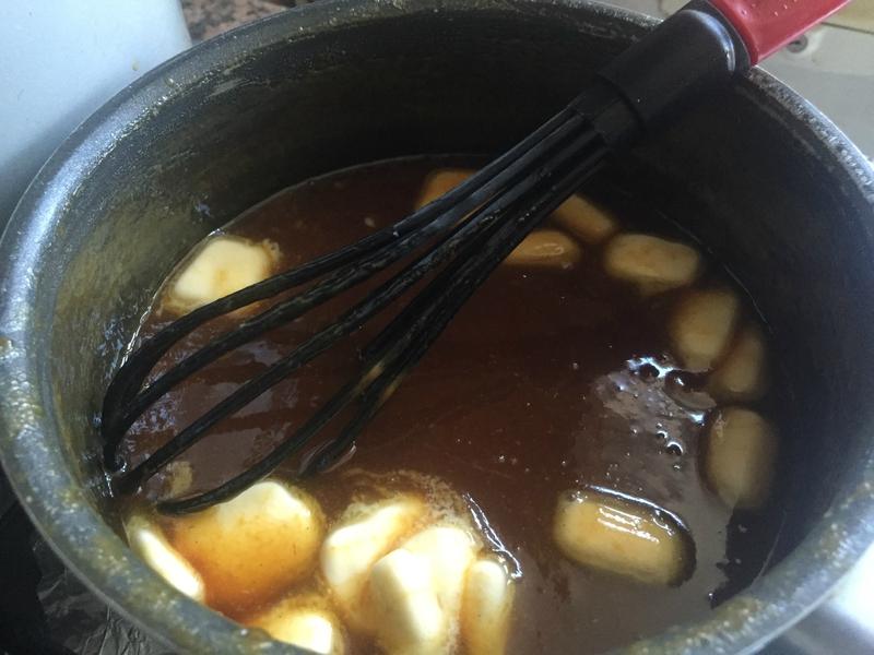 caramel au beurre salé pour buche de noel mousse caramel et poires