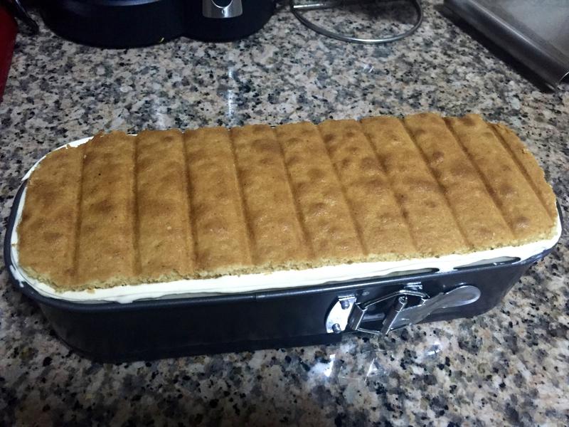 montage buche avec biscuit