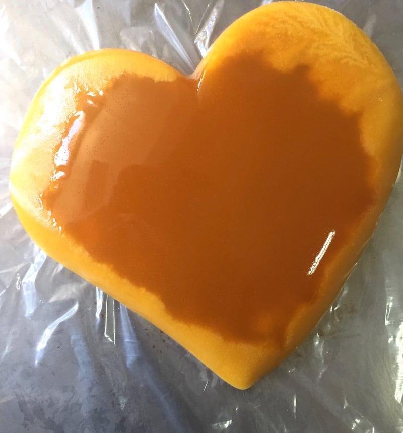 entremets noix de coco passion-confit fruit de la passion
