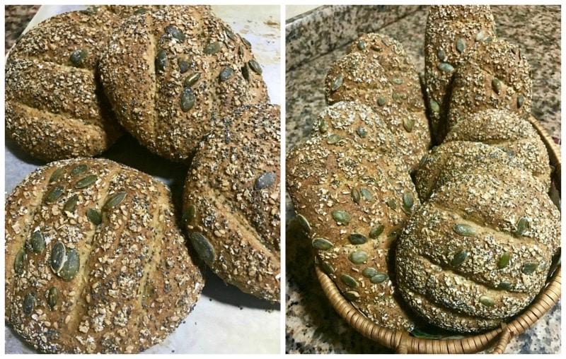 recette pain complet avec du son de blé et des graine de courge