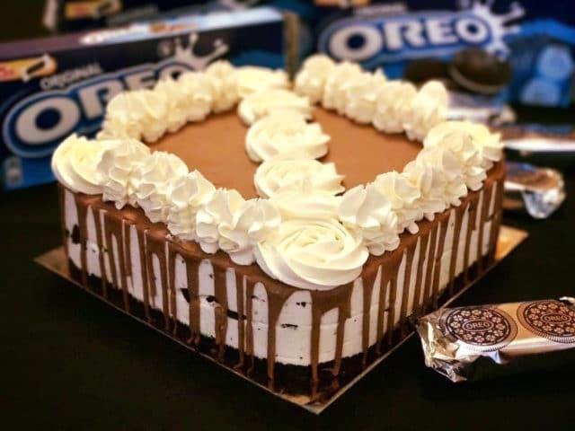cheesecake comme un layer cake aux oréos