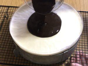 glaçage du 3 chocolats