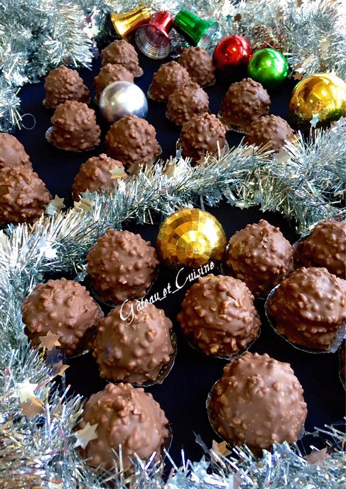 Chocolat rocher praliné coco