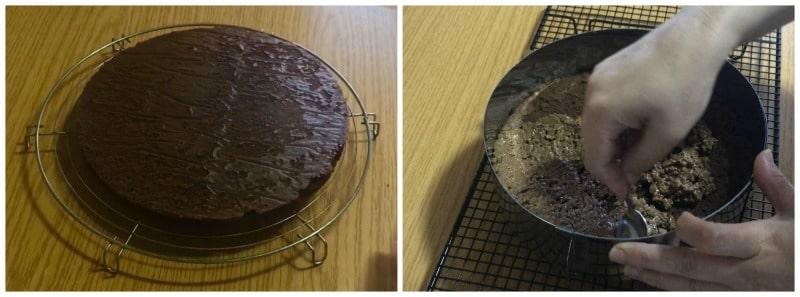 croustillant praliné dans entremet trois chocolats