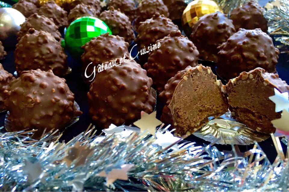 chocolat de noel -rocher praliné et coco