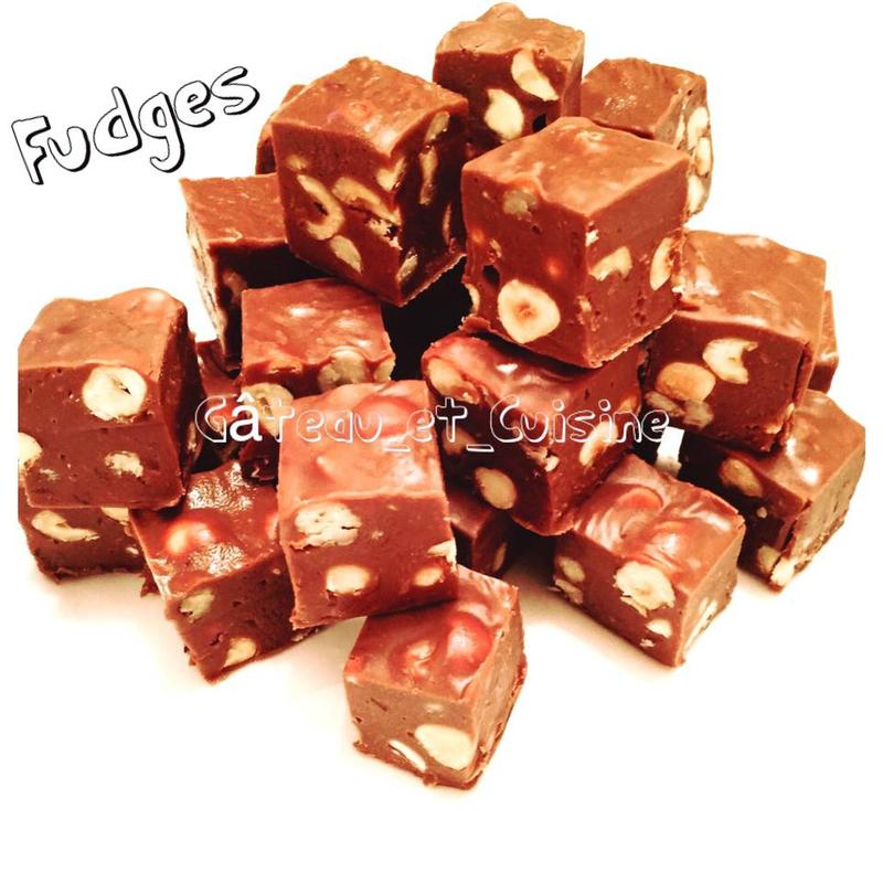 fudges chocolat noisettes
