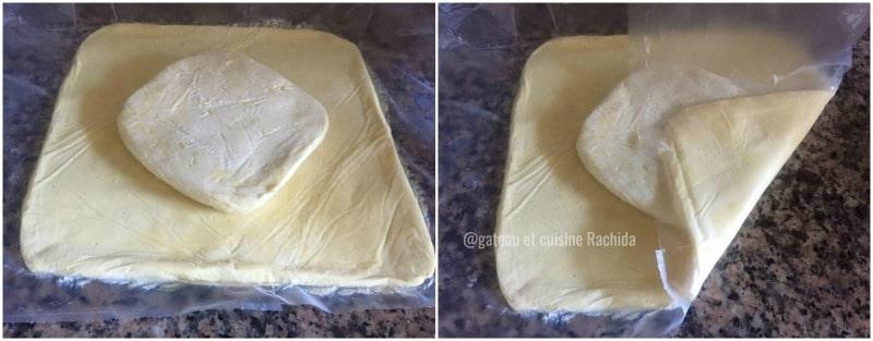 pâte feuilletée inversé tuto pas à pas en images