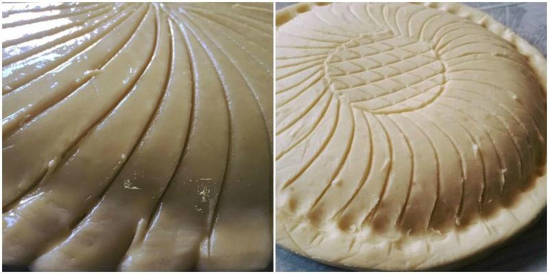 rayer une galette des rois crème frangipane